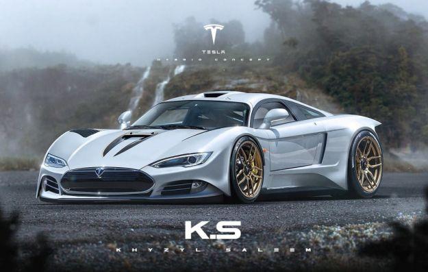 Supercar di Tesla rendering