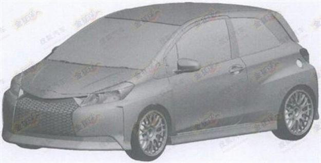 Toyota Yaris TS 2013, immagini dei brevetti anticipano la nuova versione sportiva?