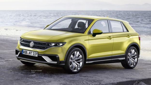 Volkswagen Polo crossover, un rendering la immagina così