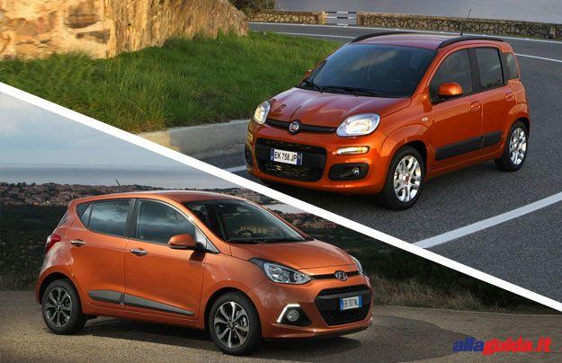 confronto Hyundai i10 Fiat Panda