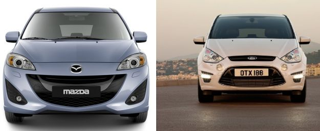 confronto mazda 5 vs ford s max