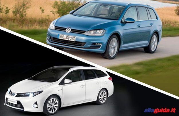 Volkswagen Golf Variant VS. Toyota Auris Touring Sports: familiari pronte ai viaggi [FOTO]