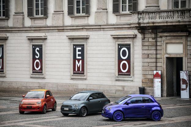 Fiat 500 elettrica alla moda: tre versioni speciali firmate Bulgari, Armani e Kartell