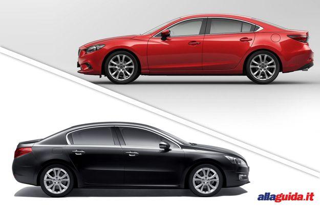 Mazda 6 VS Peugeot 508: il confronto delle berline tre volumi [FOTO e VIDEO]