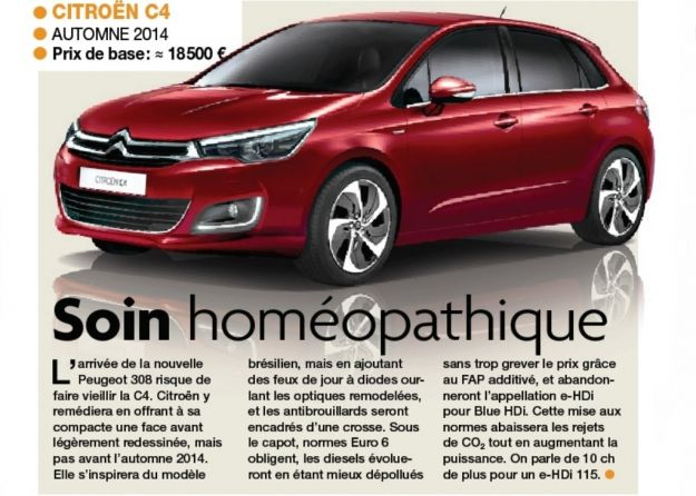 Citroen C4 2014: restyling in arrivo per la media francese [FOTO]