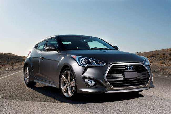 Hyundai Veloster Turbo, frontale