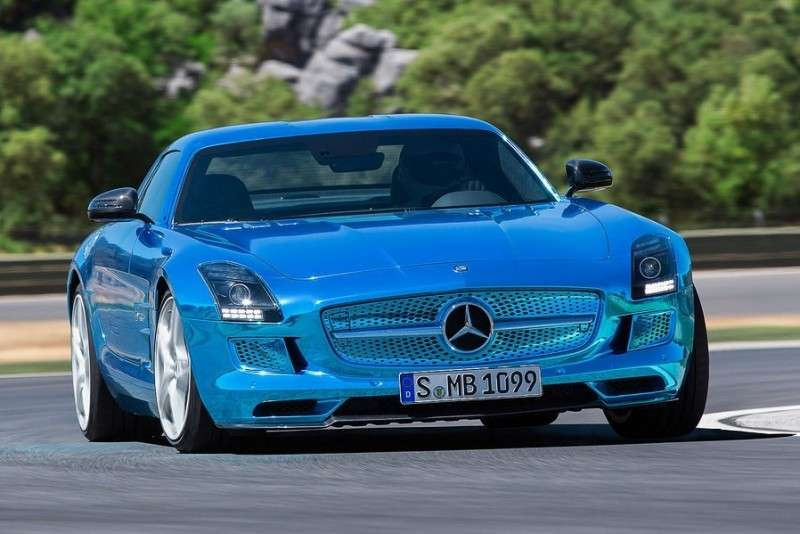 Mercedes SLS Amg Electric Drive, fari