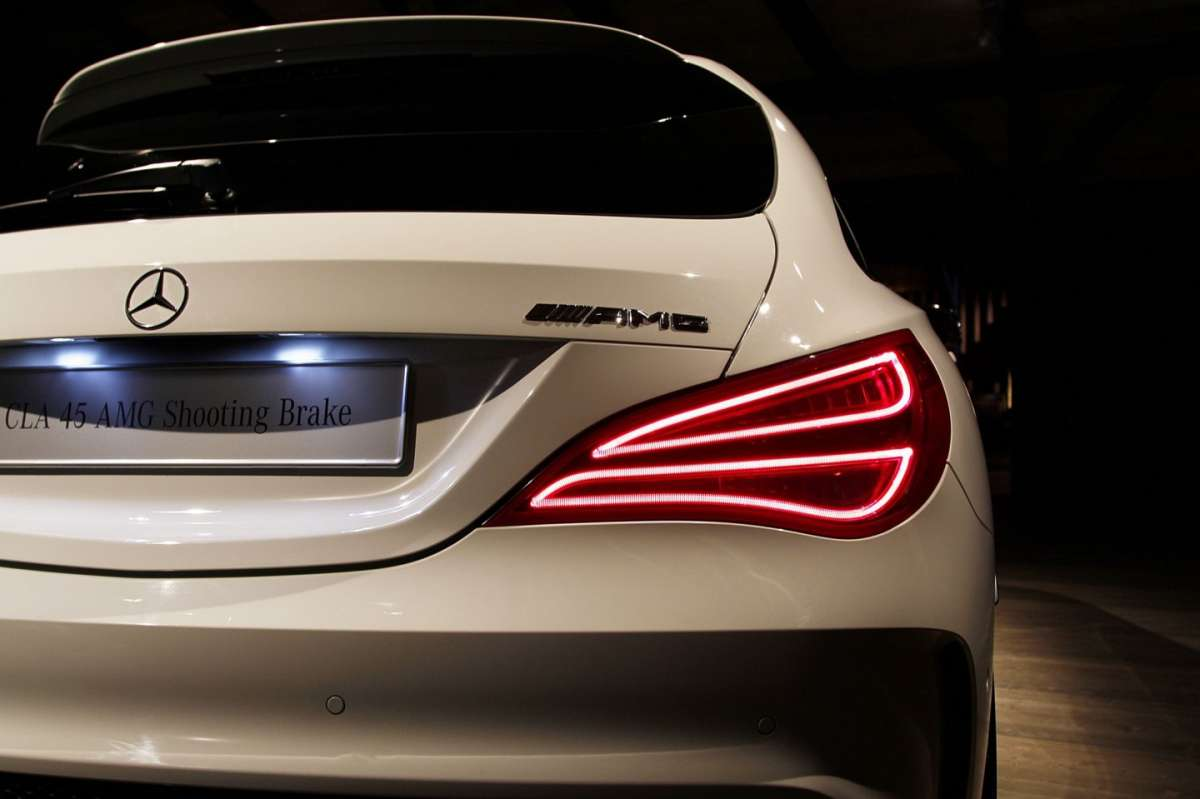 Fari posteriori a led di CLA Shooting Brake