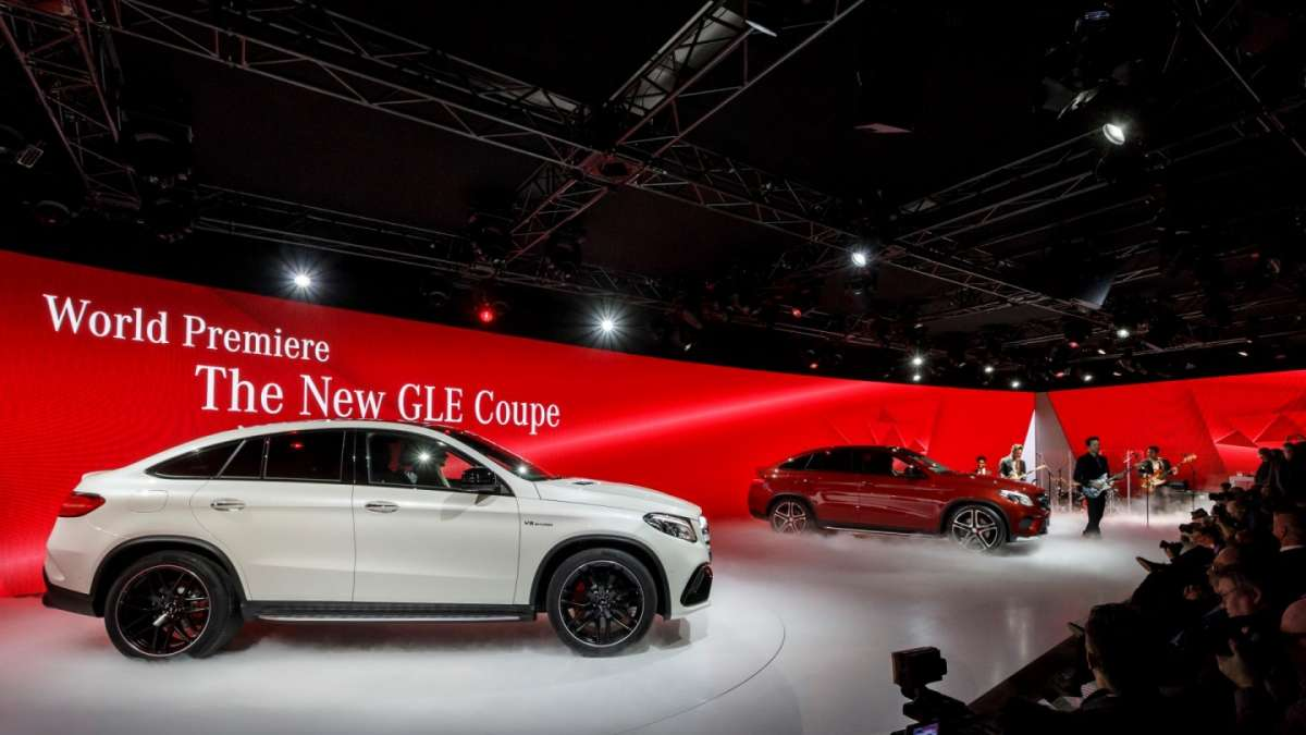 Mercedes GLE coupe al Salone di Detroit 2015