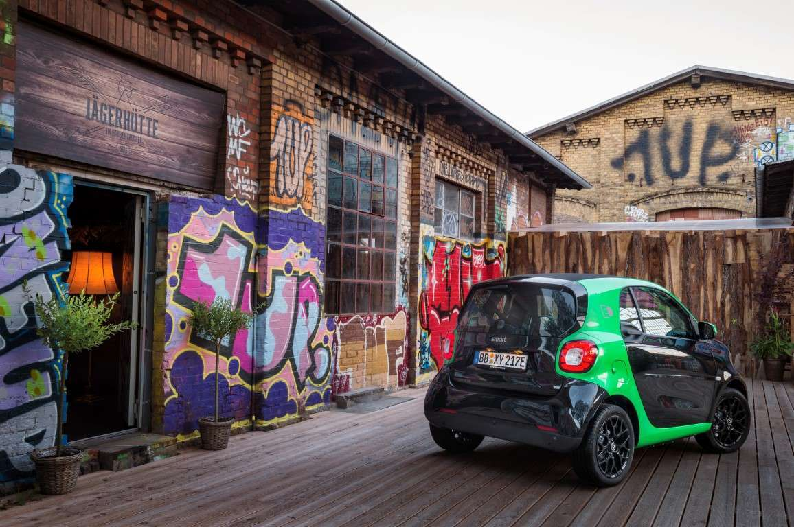 Smart Fortwo coupe Electric Drive, uscita