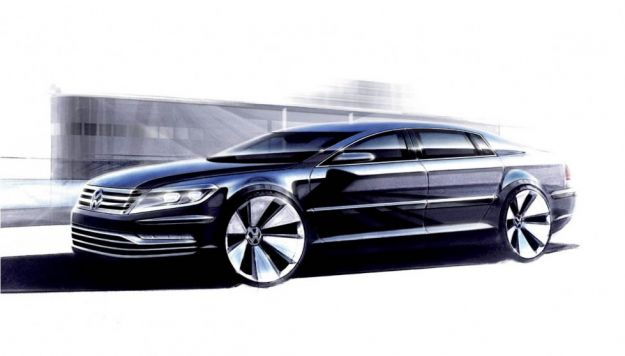 Nuova Volkswagen Phaeton, bozzetti: modello pronto, ma uscita posticipata [FOTO]
